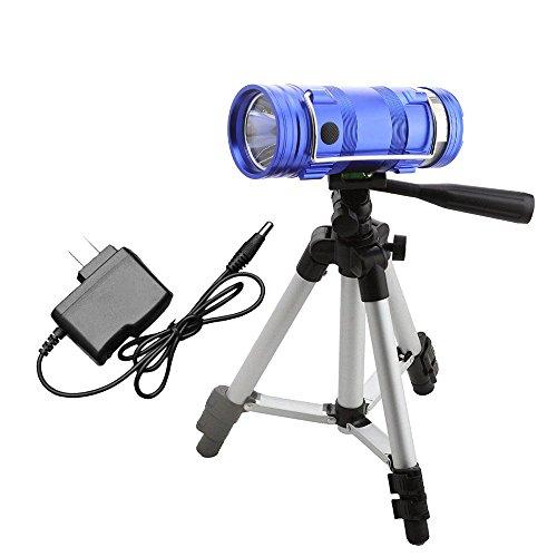 (JIALUN- LED Dual Lichtquelle Lampe US Stecker Blau Weiß Doppel Taschenlampe Angeln Lampe Nacht Angeln Wiederaufladbare Angeln Licht (1 STÜCKE))