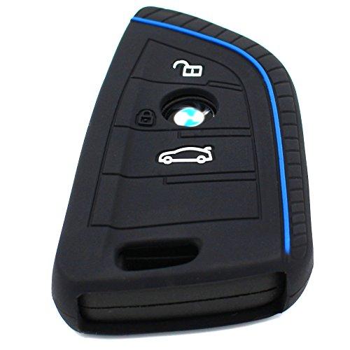RC Finest Folia per chiavi dell/'auto a 4 pulsanti Nero custodia portachiavi in silicone