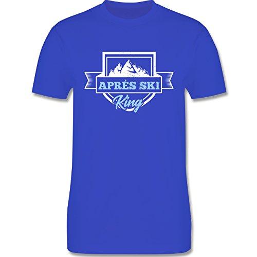 Shirtracer Après Ski - Aprés Ski King - Herren T-Shirt Rundhals Royalblau