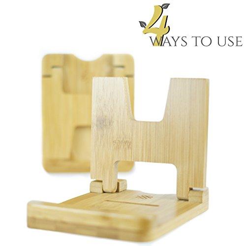 Foto de Soporte para tapas de olla y base para cuchara de bambú de alta calidad. Ayudante de cocina 4 en 1: innovador, práctico y multifuncional. Elegante herramienta y aparato para mantener las cocinas limpias. Organizador sólido y estable para mantener el orden