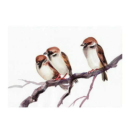bdrsjdsb Nordische Vogel Leinwand ungerahmt Malerei Hintergrund Wand Wohnzimmer Schlafzimmer Home Decor 50 * 70 (Home Vögel Dekor)