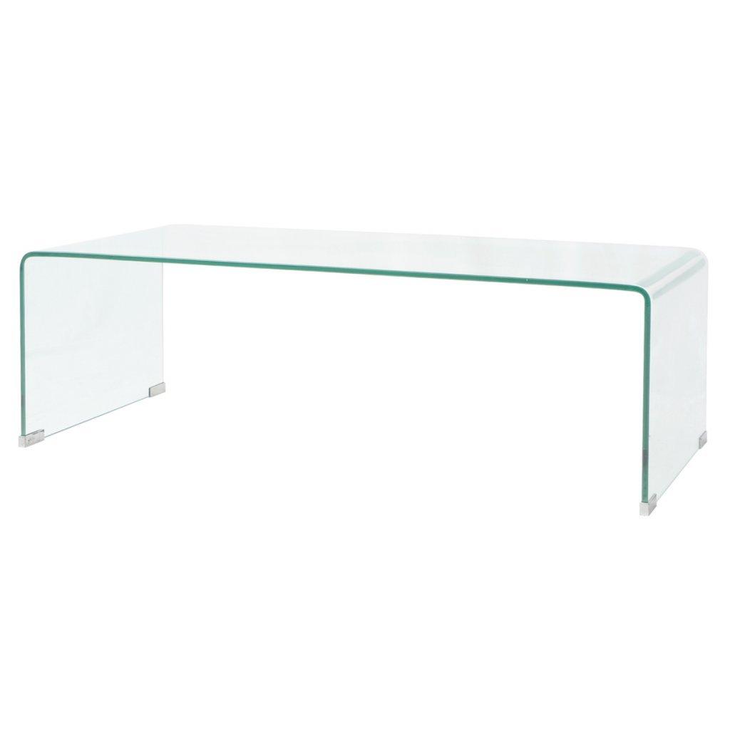 trempé 100 Table Festnight Transparent cm Verre Basse c35RS4qAjL