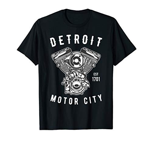 Big Block Detroit Motor City Michigan Auto Enthusiast T-Shirt - Automobil-motoren