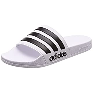 adidas Men's Adilette Shower Beach and Pool Shoes, White (Ftwr White/Core Black/Ftwr White), 5 UK/38 EU