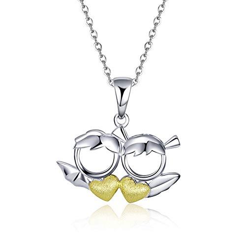 Kostüm Teufel Kinder Engel - HSUMING Teufel Anhänger für Mädchen, Engel Anhänger für Mädchen, Damen Mode Schmuck 925 Sterling Silber Halskette