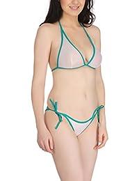 FIMS Women's Net Sexy Bridal Honeymoon Bra Panty Bikini Set/Lingerie Set_Pack of 1