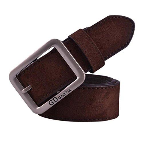 WOCACHI Herren Gürtel Mens beiläufige Waistband Leder automatische Schnalle Gürtel Hüftgurt Gürtel (Kinder Cop Gürtel)