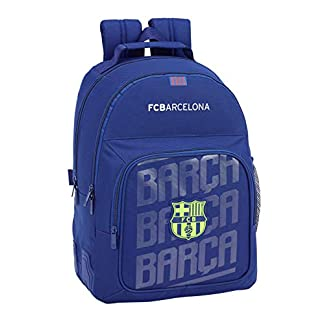 FC Barcelona Mochila Doble con cantoneras Adaptable a Carro.