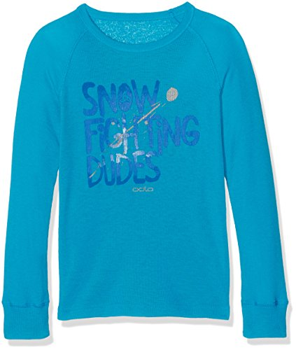 Odlo Kinder Shirt l/s Crew Neck WARM Trend Kids (Big Unterhemden Lg.arm Ki, Blue Jewel, 128 | 07613273941197