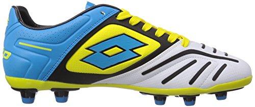 Lotto Sport  STADIO POTENZA V 200 FG, Chaussures de foot pour homme Multicolore - Mehrfarbig (WHITE/FL BLUE)