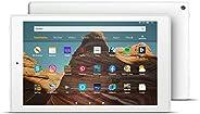 FireHD10-Tablet, Zertifiziert und generalüberholt, 32 GB, Weiß – 10,1Zoll großes FullHD-Display (1080p), M