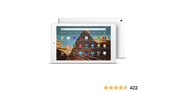 Fire Hd 10 Tablet Zertifiziert Und Generalüberholt 32 Gb Weiß 10 1 Zoll Großes Full Hd Display 1080p Mit Werbung Amazon Devices