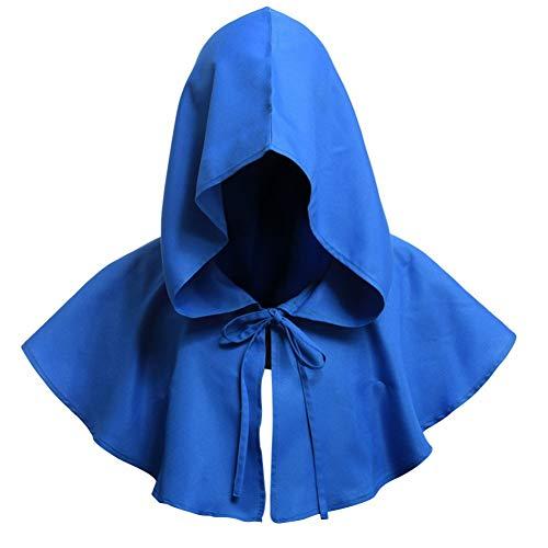 Halloween Death Cape Cosplay Kostüme Kurzmantel Krawattenverschluss Für Erwachsene Weihnachten Maskerade Party Requisiten Balight (Blue Cape Kostüm)