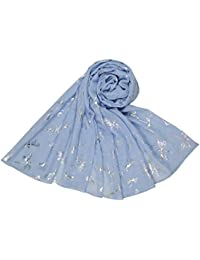 Blue and Silver Shimmer Dragonfly Scarf Ladies Fashion Scarves