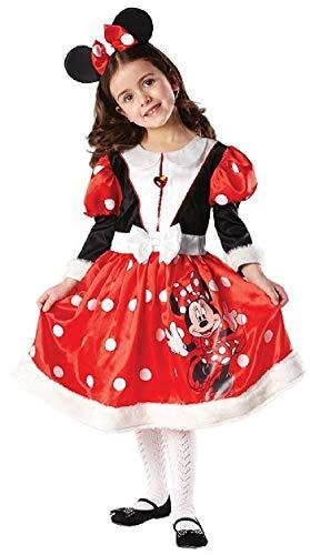 Mädchen Offiziell Disney Langärmlig Minnie Maus Buch Tag Woche Verkleidung Kleid Kostüm Outfit 3-8 Jahre - Rot, Rot, 3-4 ()