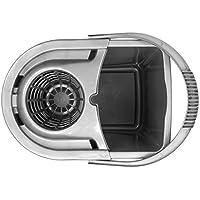 Elliott - Cubo con escurridor giratorio, color gris