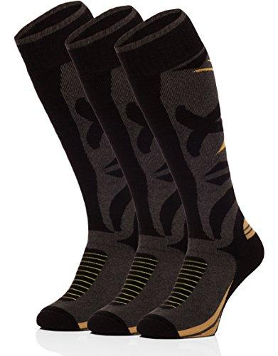 ladeheid-uomo-3-paia-calzini-da-sci-calze-sportive-518v1-nero-graphite-giallo-41-43