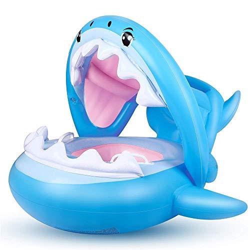 wimmring - Aufblasbarer Schwimmbecken-Schwimmboot-Trainersitz mit verstellbarem Sonnenschirm (6-36 Monate) ()