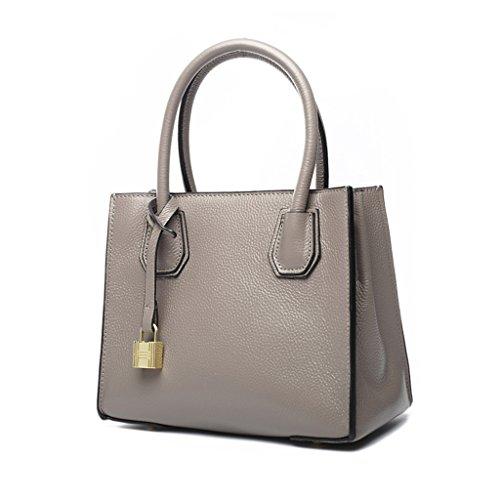ZCJB Schultertasche Messenger Bag Damen Tasche Handtasche Kapazität Taschen ( Farbe : Grau ) Grau