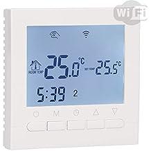 Aluzan B-3 WiFi, termostato inteligente con aplicación gratuita (iOS/Android), principalmente para el control remoto de calderas de gas/eléctricas, programable para 6 períodos por día.