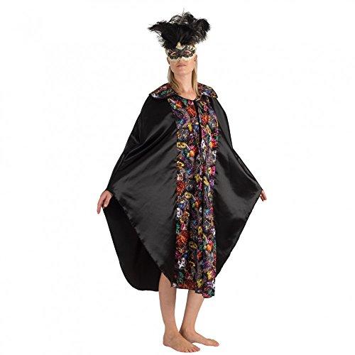 Venezianischer Kostüm Edelmann - Krause & Sohn Umhang mit venezianischen Masken Fasching Maskenball Cape Unisex Gewand Barock