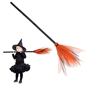 Escoba de Bruja de Halloween,