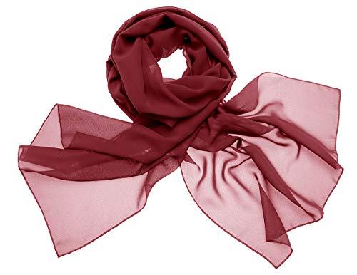 Dresstells scialli sciarpa chiffon donna avvolgere accessori sera partito in vari colori burgundy 200cm×75cm