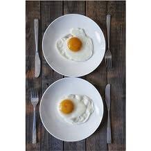 POSTERLOUNGE Cuadro sobre lienzo 60 x 90 cm: fried eggs de Joana Kruse - cuadro terminado, cuadro sobre bastidor, lámina terminada sobre lienzo auténtico, impresión en lienzo