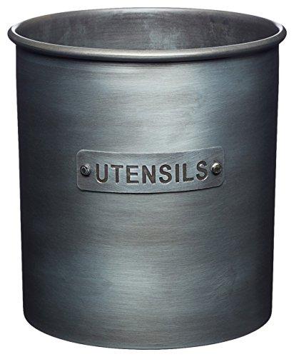 KitchenCraft Küchenutensilien-Halter Vintage Metall 14x 14cm–Grau