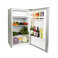 Nikai Defrost Compact Fridge 3 Cubic Feet,84 Liters, Silver Color - NRF110NS7