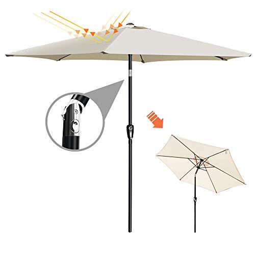 Masthome 2,7m Esterno ombrellone ombrellone da Giardino con inclinazione