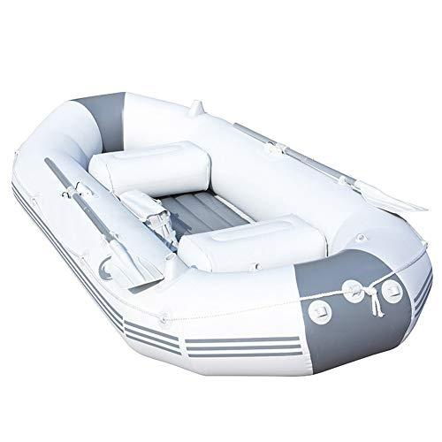 ZOUBIAG Schlauchboot 3-Personen-Schlauchboot Mit Abnehmbarer Aluminiumlegierung Und Hocheffizienter Manueller Luftpumpe (Color : Gray, Size : 3-Person Boat)
