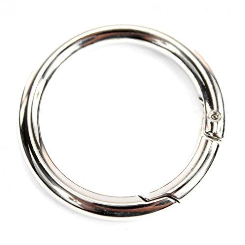 Ersatzteil Karabiner Ring Kette Bastelbedarf für Handtaschen, Farbe:Karabiner-Ring 63mm
