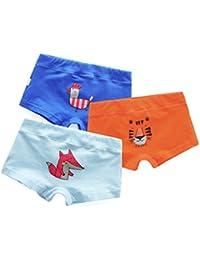 Babyicon Baby Jungen 1-6 Jahre Kinder Unterwäsche Boxershorts 3 Stück Unterhose