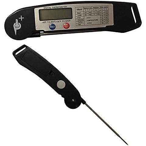 ✮ ufficiale ✮ Thermaspike-Ultra Fast Food carne e termometro e misuratore della temperatura, batteria inclusa Black with Magnet