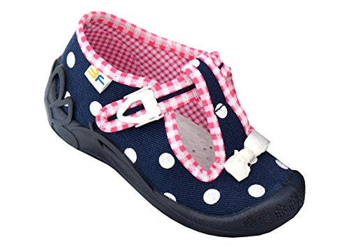 3f freedom for feet Babyschuhe Mädchen Süß Schuh Glitzern Kleinkind Neugeborene Schuhe mit Klettverschluss (Option mit Leder Einlegesohlen) (24, Weiß Punkten1F9/8)