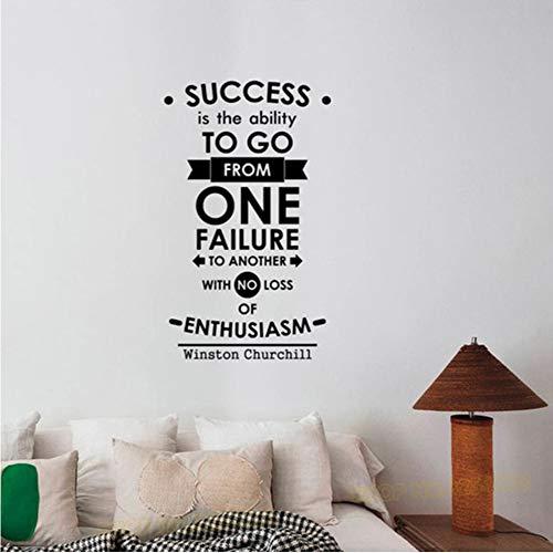 die Fähigkeit Wandaufkleber Inspirational Quote Wall Decal Vinyl Schriftzug Business Spruch Sticker Art Motivational 42 * 70cm ()