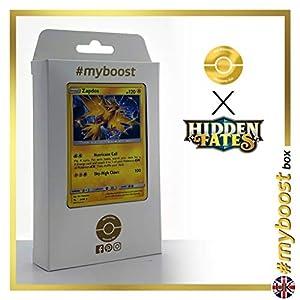 Zapdos 24/68 Holo - #myboost X Sun & Moon 11.5 Hidden Fates - Box de 10 cartas Pokémon Inglesas