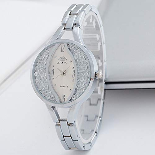 LLDNYSKH Mode zu sehen Weibliche Armbanduhr Persönlichkeit Oval Gesicht Quarzuhr Hochwertigen Diamanten Schülertabelle
