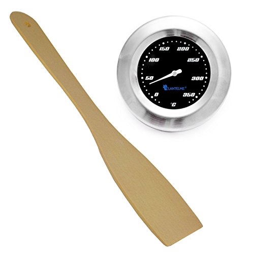 lantelme-6034-barbecue-accessories-set-with-analogue-thermometer-and-wooden-barbecue-spatula