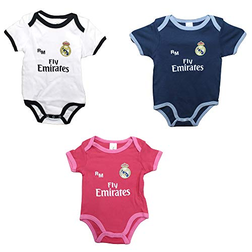Real Madrid FC Baby Jungen (0-24 Monate) Set Weiß, Weiß 3 Monate
