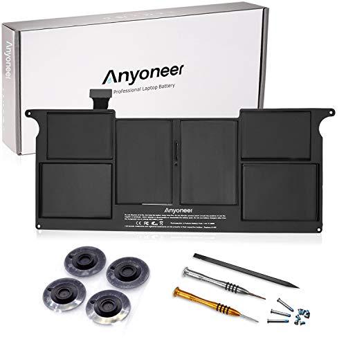 Anyoneer A1406 batería del Ordenador portátil súper Capacidad de Apple Macbook Air 11' A1495 A1406 (Mid 2012 to Early 2014) A1370 (Mid 2011 Only) [Li-Polymer 7.6V 5200mAh]