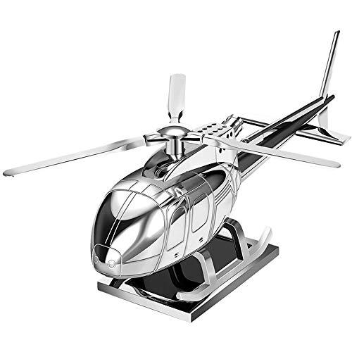 ETH Legierung Auto aromatherapie Maschine solar Power cyclotron Hubschrauber Spielzeug hochwertigen Auto Dekoration Dekoration (mit aromakern und rutschfeste Matte) Bequemlichkeit (Farbe : Silver) -