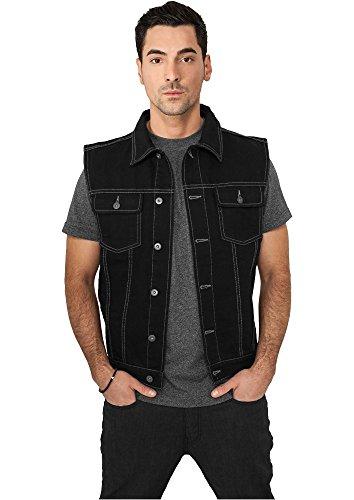 TB514 Denim Vest Jeans Weste blackraw