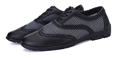 SONGYUNYAN Herren Brock Mesh schneiden Fashion Sneaker Bootsschuh Black