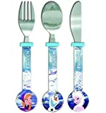 Official Disney Childrens Frozen 3 Piece Cutlery Set