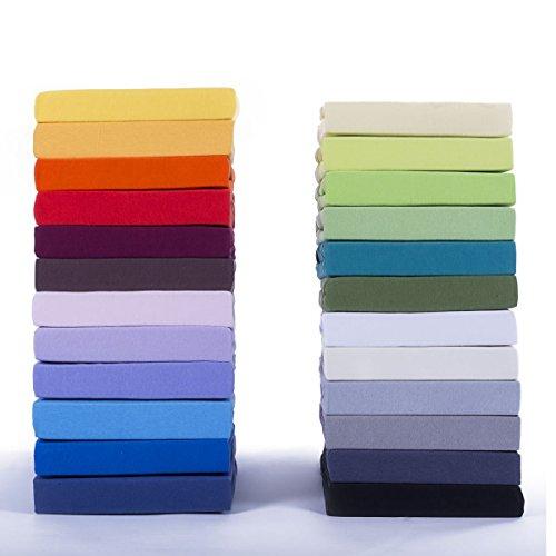 Classic Kinder Jersey Spannbettlaken 2er Sparset - 100% Baumwolle Spannbetttuch nach Ökotex 100, Rosa 60x120 - 70x140 cm, Komfort Qualität in 38 Farben & 10 Größen