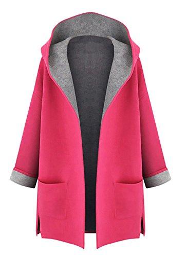 Minetom Ropa Mujer Invierno Barata Mujer Algodón Chaquetas Ropa de abrigo Sudaderas con capucha Oferta Rojo ES 42