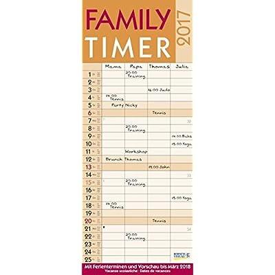 Family Timer Lifestyle 2017: Familientimer Mit Ferienterminen Und Vorschau Bis März 2018