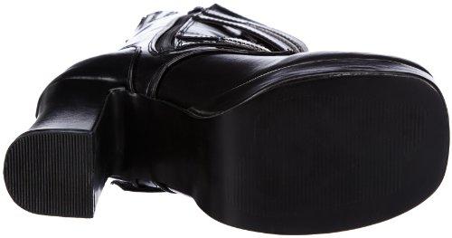 Demonia GOTHIKA-100 Damen Stiefel Schwarz (Blk Vegan Leather)